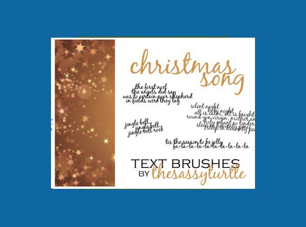 Christmas Song Text Brushes para Photoshop