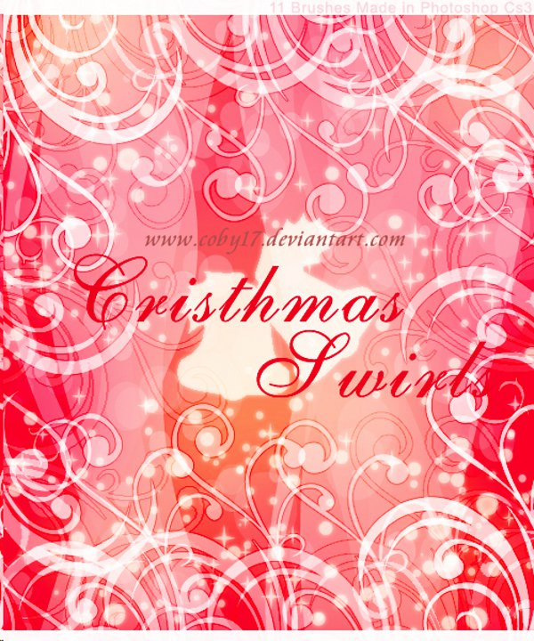 Christmas Swirls Brushes Photoshop