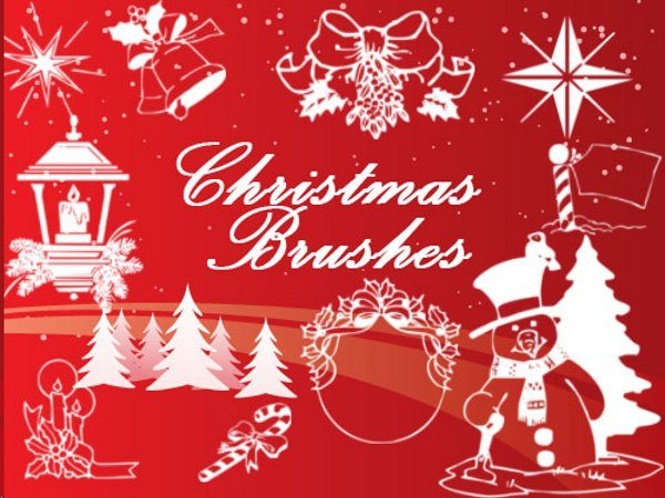 Christmas brushes Photoshop