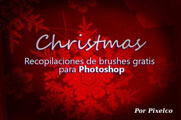 Christmas - recopilaciones de brushes gratis para Photoshop por Pixelco
