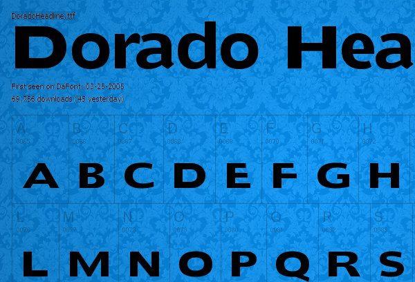 Dorado Headline fuente gratis para descargar