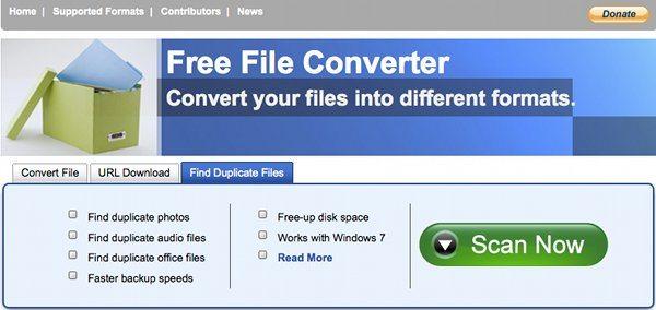 Free File Converter - Interfaz