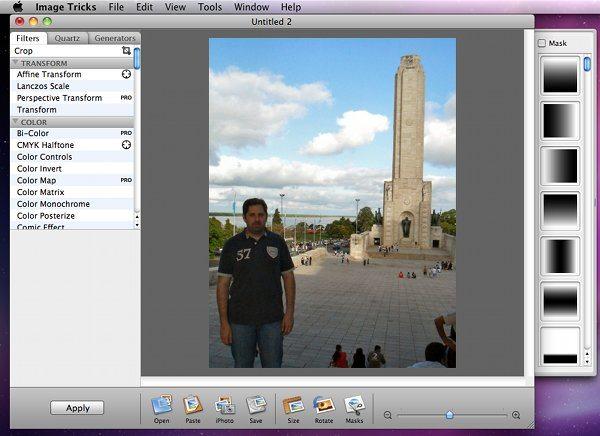 Imagre Tricks - editor de fotos para Mac OSX