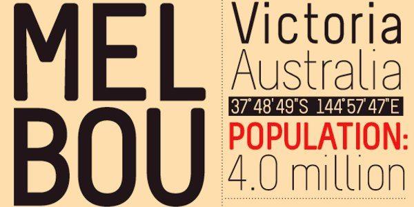 Melbourne free font