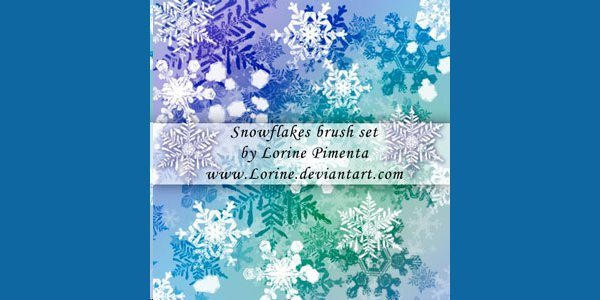 Snow Flakes Photoshop Brush Set