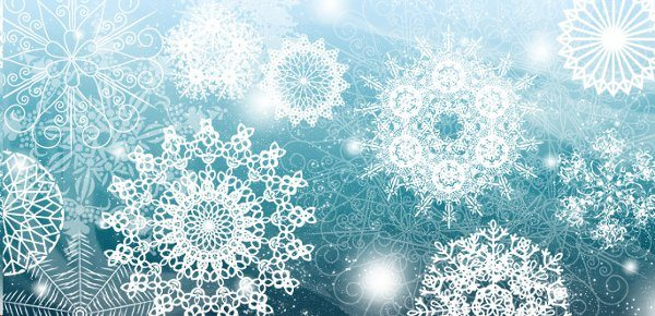 Snow Flakes Brushes para Photoshop