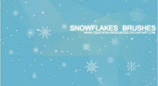 Snowflakes brushes para Photoshop