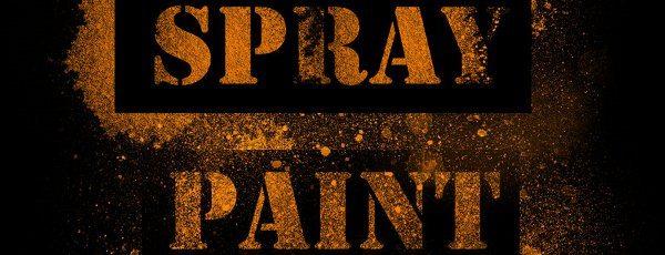 Spray paint Photoshop brushes set