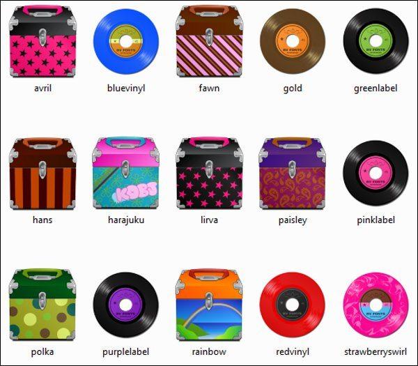 The Vinyl Collection Icons - coleccion de iconos gratis