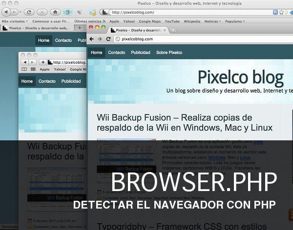 BROWSER.PHP - Clase PHP para detectar el navegador