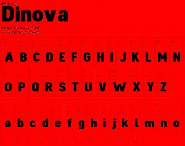 Dinova free font
