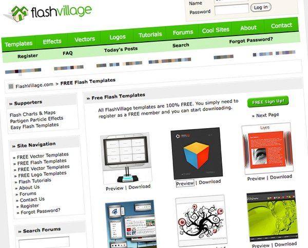 Flash Village - Descargar templates Flash gratis