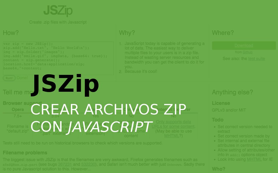 JSZip - Javascript para crear archivos ZIP
