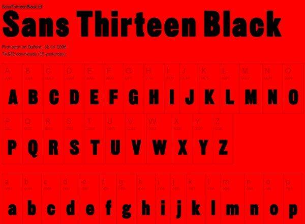 Sans Thirteen Black free font