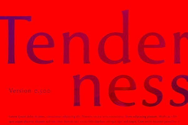 Tenderness - free font