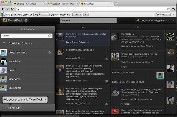 TweetDeck para Google Chrome