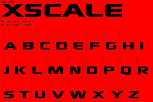 Xscale - free font