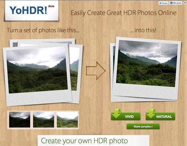 YoHDR - editor de fotos online
