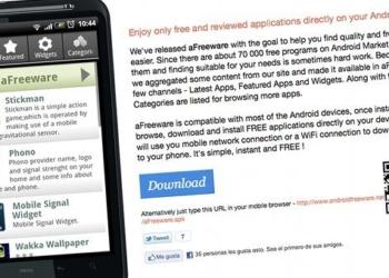 aFreeware instalar aplicaciones para Android