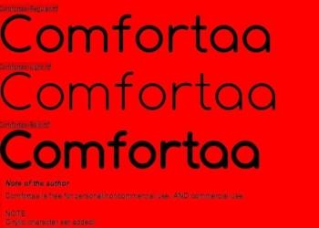 Comfortaa - free font
