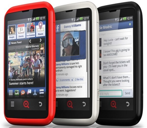INQ Cloud Touch y el INQ Cloud Q facebook phones nuevos