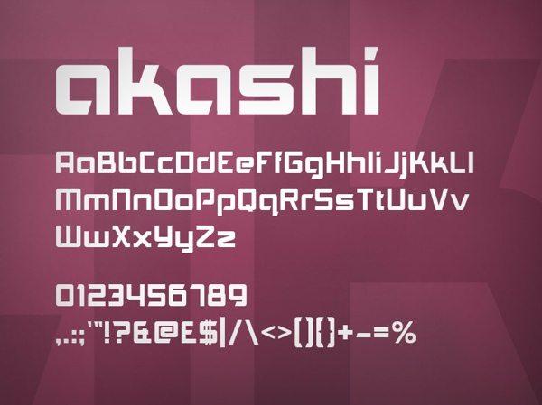 Akshi - free font