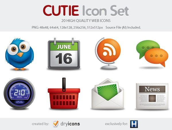 CUTIE icon set - Iconos web