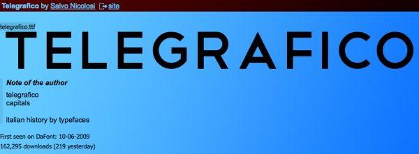 Telgrafico - free font