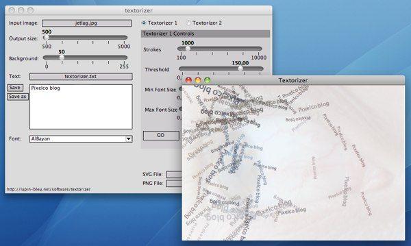 Textorizer - interfaz