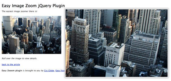 Easy Image Zoom - jQuery Plugin
