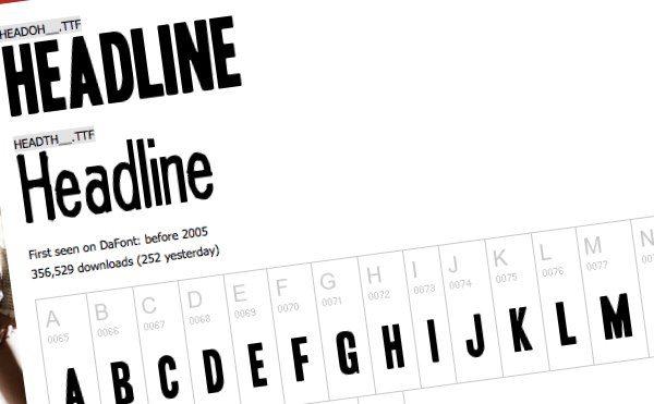Headline - fuente tipográfica gratuita