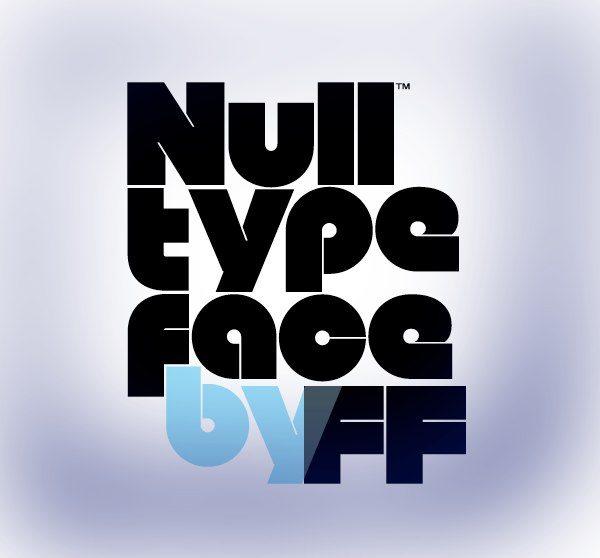 Null, fuente tipográfica gratuita
