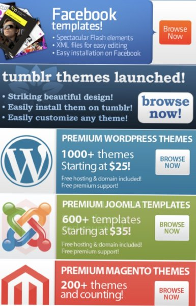 TemplateMonster - amplia variedad templates