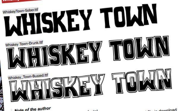 Wiskey Town, fuente tipográfica gratuita