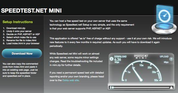 Speedtest Mini - Herramienta para medir la velocidad de la conexión a Internet