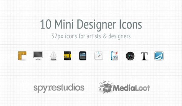 10 Mini Designer Icon Set