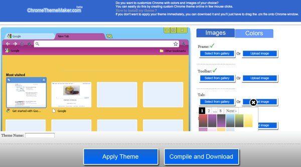 ChromeThemeMaker - Crear themes para Google Chrome
