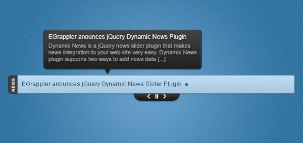 Dynamic News jQuery news slider plugin