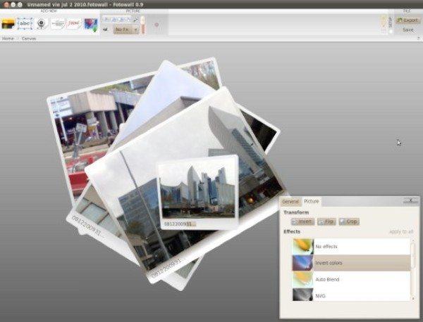 FotoWall - editor de imagenes para Linux