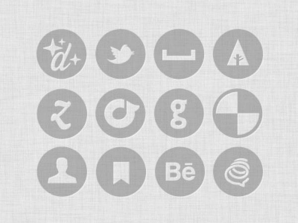 Free Mini Vector and Custom icon set - Colección de iconos monocromáticos gratuitos