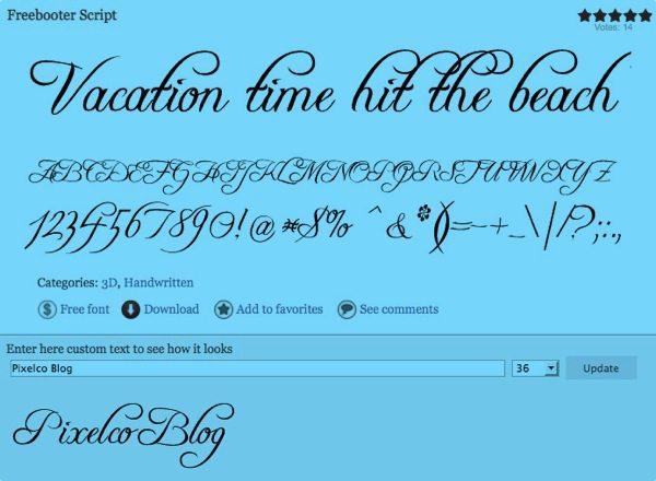 Freebooter Script free font