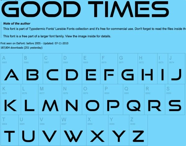 Good Times free font