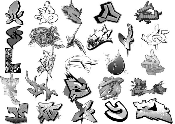 Graffiti Alphabet Brushes para Photoshop