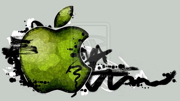 Graffiti Apple Logo brushes para Photoshop