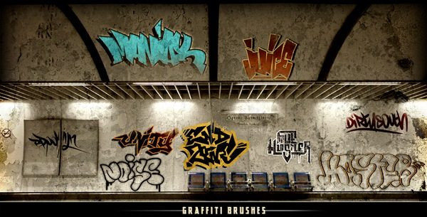 Graffiti brushes Photoshop