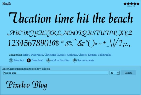Magik free font