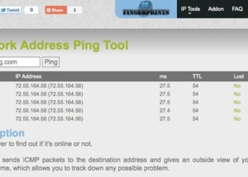 Network Address Ping Tool - Herramienta online para hacer Ping un host