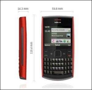 Nokia X2-01 - Dimensiones