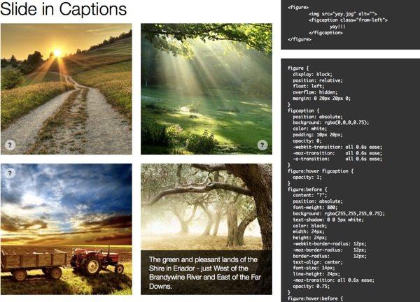 Slide Caption con HTML5 y CSS3