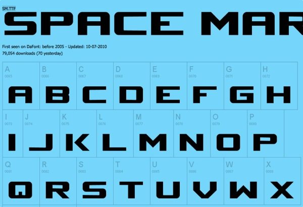 Space Marine free font